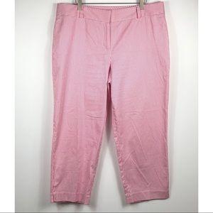 Talbots Signature pink seersucker pants